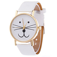 Women's Moustache Design PU Band Analog Quartz Wrist Watch(Brown) Cool Watches Unique Watches