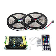 ZDM™ 2×5M 150X5050 SMD RGB LED Strip Light and 44Key Remote Controller and 5A Power Supply (AC110-240V)