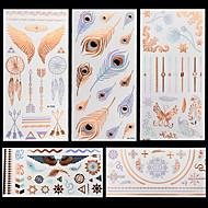 5 Tetovací nálepky Řada šperků Zvířecí řada Květinová řada Totemová řada OstatníNon Toxic Vzor Halloween Glitter Křišťálový Hawaiian