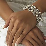 Bracciali Per donna Catena / Filo / Braccialetti Rotondi Perle finte / Lega Perle finte / Strass