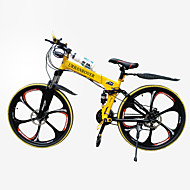 "JinDie™  21 Speeds  26""Mountain Bike 5 Spokes Wheel Folding Cycling"