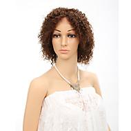 "10 ""lacefront המתולתל קצר פאות פאות שיער אדם מתולתלות ברזילאיות בתולת guleless פלומת שיער לנשים שחורות"