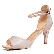 נעלי נשים-סנדלים-PU-עקבים / נעלים עם פתח קדמי / פתוח-ורוד / כסוף-משרד ועבודה / מסיבה וערב / Work & Duty-עקב גביע