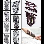 8db tatoo hamis gép láb sárkány nők férfiak test hüvely vissza Art ideiglenes vízálló tetoválás matrica