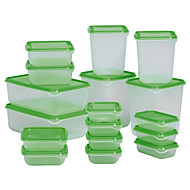 17pcs קופסא אחסון מזון פרוט שוודיה להגדיר אטום חומרי גלם לבישול מיכל תיבת שימור מקרר פלסטיק במצנן