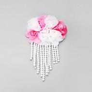 Mulheres / Menina das Flores Renda / Liga / Imitação de Pérola Capacete-Casamento / Ocasião Especial Clip para o Cabelo 1 Peça Branco Oval