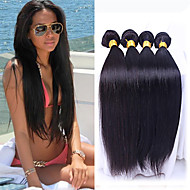 peruanisches reines Haar 4pcs gerade Menschenhaar spinnt natürliche schwarze peruanische glattes Haar 8-26 Zoll