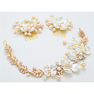 Women's / Flower Girl's Alloy / Imitation Pearl Headpiece-Wedding / Special Occasion Headbands / Hair Combs 3 Pieces