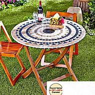 1 Mélange Poly/Coton Rond Nappes de table Tableau Dceoration