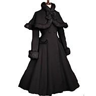 Manica lunga in velluto Princess Classic Coat Lolita con l'arco