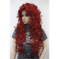 새로운 패션 헤어 여성의 코스프레 파티 금발의 긴 곱슬 앞머리에게 전체 가발 가발