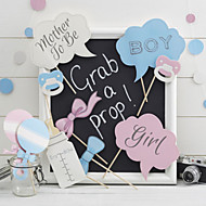 10PCS Baby Shower Card Paper Photo Booth Props Party Fun Favor