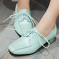 נעלי נשים-אוקספורד-דמוי עור-עקבים / מרובע-כחול / ירוק / ורוד / לבן / אפור-משרד ועבודה / שמלה / קז'ואל-עקב נמוך