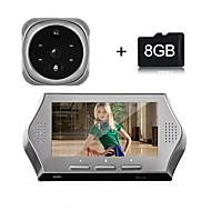Besetey® 4.3Inch 1.0M Pixels Door camera with 8GB TF Card 4 IR Night View 160 Degree Wide Angle Lens Digital Door Viewer