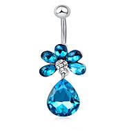 Kadın Vücut Mücevheri Navel & Bell Button Rings Paslanmaz Çelik Mücevher Uyumluluk Günlük