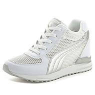 Femme Chaussures d'Athlétisme Tulle Eté Marche Lacet Plateforme Blanc Noir Rose 12 cm & plus