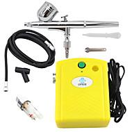 kit aérographe ophir avec mini filtre de compresseur d'air jaune pour tatouage temporaire peinture clou corps