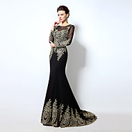 Formal Evening Dress Trumpet/Mermaid Off-the-shoulder Sweep/Brush Train Chiffon