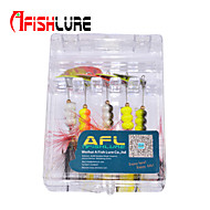 "Afishlure Metal Bait Jigs Buzzbait & Spinnerbait Spoons Trolling Lure 5pcs 5g/1/6 oz. 80mm /3-1/4"" phantom Sea Fishing"
