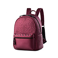 Women PU Bucket Backpack-Blue / Red / Black