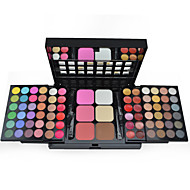 Make-up For You® 78 Color Eyeshadow Palette + Blush Shimmer/Dry/Mineral Powder Professional Halloween Party makeup/Smokey makeup Makeup Palettes