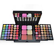78 Paleta de Sombras Secos / Mate / Brilho / Mineral Paleta da sombra Pó Grande Maquiagem para o Dia A Dia / Maquiagem de Fada