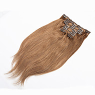 klamerka w ludzkich włosów rozszerzeniach blond włosy ludzkie klip w rozszerzeniach 70g platynowy blond włosów ludzkich w klipie
