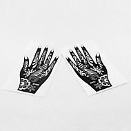 1Airbrush Tattoo Stencils-22*10*0.2-PVC-Fekete-Felnőtt / Tini