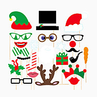 24PCS Christmas Card Paper Photo Booth Props Party Fun Favor