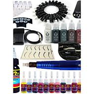 solong tetoválás rotációs tetováló gép&tartós smink toll 20 tű patron festékkészletet tápegység pedál ek101-4