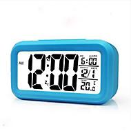 klokke bell elevene i tre grupper smart sengen noctilucent vekkerklokke kreativ mute elektronisk klokke