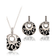 MOGE New Fashion Vintage / Cute / Party / Work / Casual Alloy / Rhinestone / Imitation Pearl Necklace / Earrings Sets