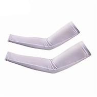 Armlinge Fahhrad Rasche Trocknung Leichtes Material Sonnenschutz Unisex Weiß Elasthan Polyester