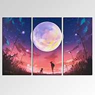 Fantasy / Leisure / צילום / קפריזי / מוזיקה / פטריוטי / מודרני / רומנטי הדפסת בד שלושה פנלים מוכן לתלייה,אופקי