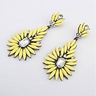 National Style Fashion White Round Rhinestone Irregular Drop Earrings For Women Brincos Jewelry
