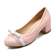 Women's Shoes Chunky Heel Heels / Round Toe / Closed Toe Heels Party & Evening / Dress / Casual Blue / Pink / Beige