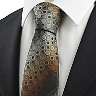 Unique Brown Gradient Swirl Paisley Pattern JACQUARD Men' Tie Necktie Gift KT0044