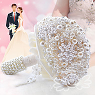 Glamorous Pearl Wedding Bouquet Jewelry Cream Bridal Flower