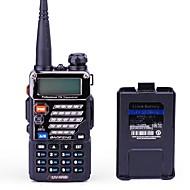 BaoFeng Portable Numérique UV-5RB Radio FM Invite Vocale Bi-Bande Double Affichage Double Veille Affichage LCD CTCSS/CDCSS 1,5 - 3 km