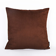 Coffee Color Suede Cushion Cover