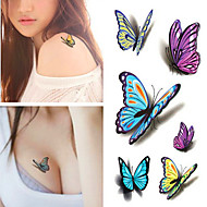RC-Tatuajes Adhesivos-Waterproof-Series de Animal-Mujer / Hombre / Adulto-Multicolor-PVC-1pcs-10.5*6cm-butterfly