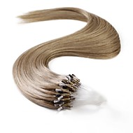 neitsi 100% ihmisen hiusten pidennykset mikro rengas silmukat hiukset 24 tuuman 25 säikeet