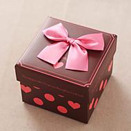 비 개인화-웨딩 / 기념일 / 브라이덜 샤워 / 베이비 샤워 / 성인식 & 스윗 16 / 생일-클래식 테마-기프트 박스(브라운,카드 종이)