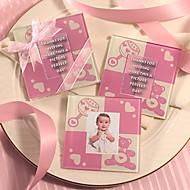 Baby Pink Cute Baby Bear coaster (2pcs/box)
