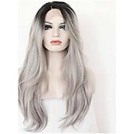 """18 """"-24"""" ombre pruiken grijs haar recht maagdelijk haar midden full lace pruiken kant voor pruiken grijs menselijk haar kant pruiken"""
