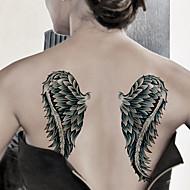 la moda grandes tatuajes temporales de arte corporal atractiva prueba de agua pegatinas tatuaje alas 2pcs