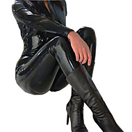 Women's 2Way Zipper PVC Leather Shiny  Catsuit Playsuit Halloween/Christmas/New Year