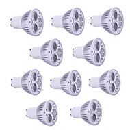 10pcs HRY® 9W GU10/GU5.3/E27/E14 900LM Warm/Cool Light Lamp LED Spot Lights(85-265V)