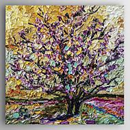 Kézzel festett Landscape / Absztrakt tájképModern Egy elem Vászon Hang festett olajfestmény For lakberendezési