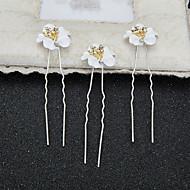 Mujer / Niña de flor Diamantes Sintéticos / Aleación / Resina Celada-Boda / Ocasión especial Pasador de Pelo 2 Piezas